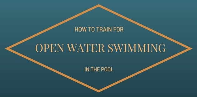 Open water swim training in the pool