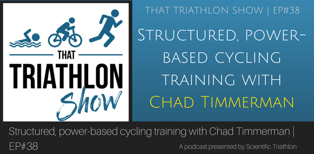 Structured, power-based cycling training with Chad Timmerman