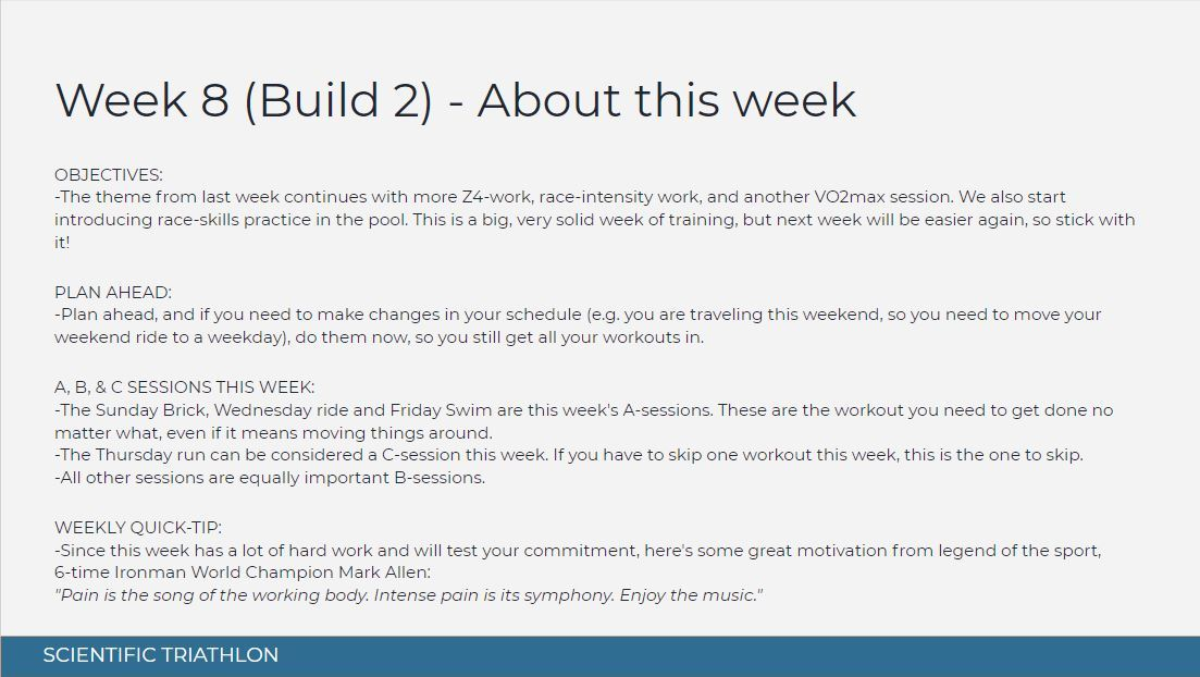 sprint triathlon training plan intermediate 12 week - week 8 - about this week
