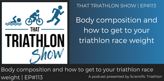 TTS113 - Body composition and how to get to your triathlon race weight