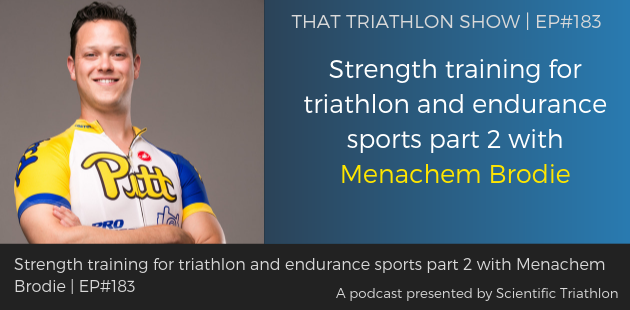 TTS183 - Strength training for triathlon and endurance sports part 2 with Menachem Brodie