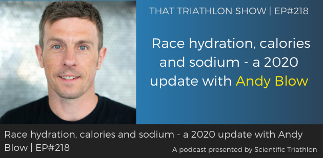 Race hydration, calories and sodium - a 2020 update with Andy Blow